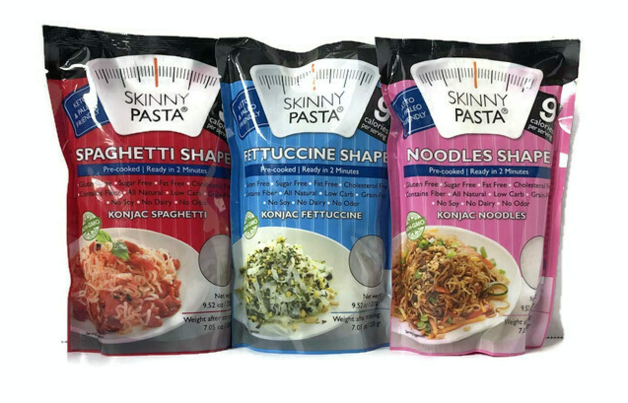 Skinny Pasta Italian Mix 9.52 oz (3 Pack) - The Only Odor Free 100% Konjac Noodle (Shirataki Noodles) - Pasta Weight loss - Low Calorie Food - Healthy Diet Pasta by Top Drawer