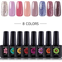 COSCELIA 10 COLORS Soak Off Gel Nail Polish Sets UV LED Gel Nail Polish Colour Nail Art Salon Set