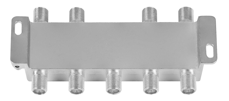 f/ür TV,Antenne,Satellit,Kabel,Fernseher,Radio,LNB Poppstar Sat-Verteiler Antennenverteiler Splitter Umschalter 4-Fach analog//digital//BK//unicable//HD//4K tauglich