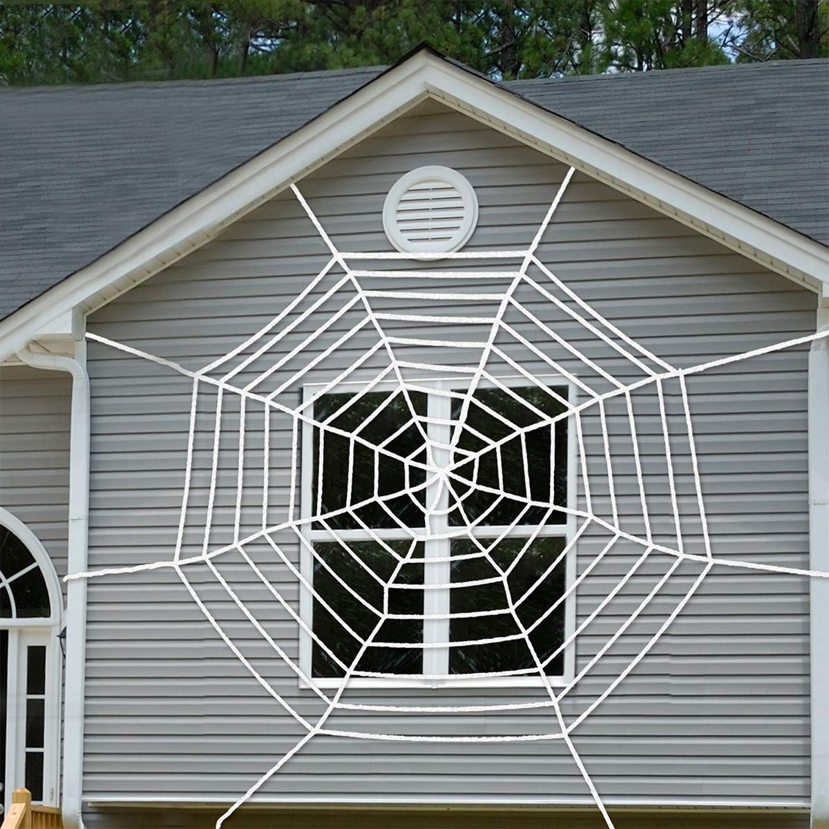 9 Feet Halloween Giant Spider Web clearance for Halloween