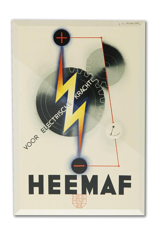 Heemafヴィンテージポスター(アーティスト: Cassandre )オランダC。1930 8 x 12 Acrylic Photo Block Decor LANT-3P-AC-PB-64304-8x12 8 x 12 Acrylic Photo Block Decor  B01N05GU7K