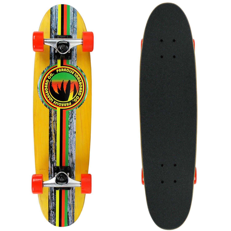 Amazon.com : PARADISE Barking Rasta Cruiser Deck, Red/Yellow : Sports & Outdoors