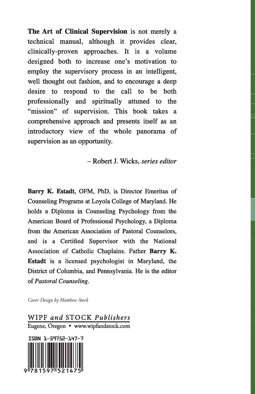 Amazon Art Of Clinical Supervision A Pastoral Counseling