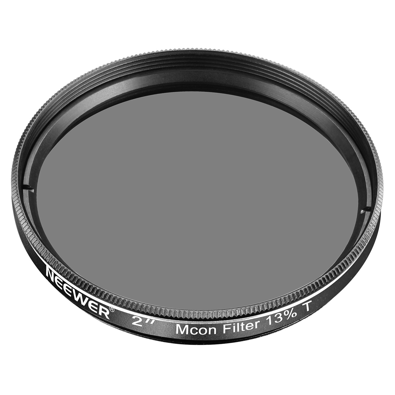 Telaio in Alluminio Vetro Ottico per Telescopio Oculare Riduzione di Luminosit/à e Irradiazione Neewer 2 Pollici Filtro Lunare a Densit/à Neutra Professionale Trasmissione 25/% Nero