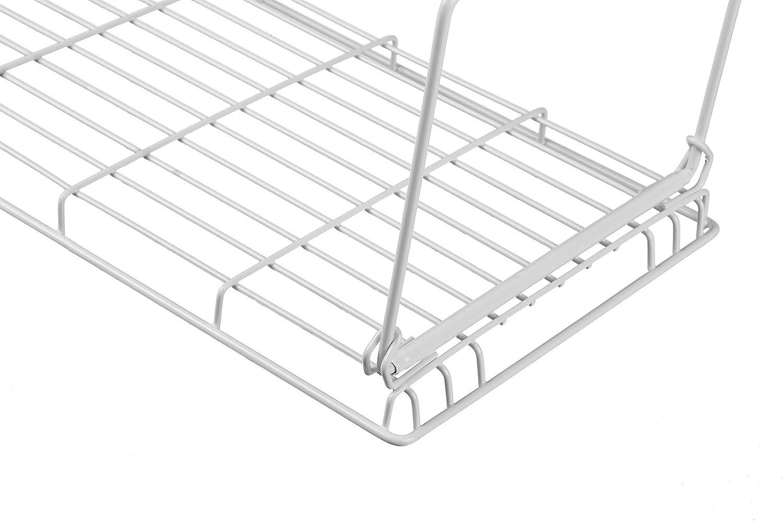 NEUN WELTEN Impilabili e Pieghevole Vassoio Inserto Mensola per Risparmio Spazio Grande Organiser 38L /× 23L /× 19Acm Set di 2, Nero