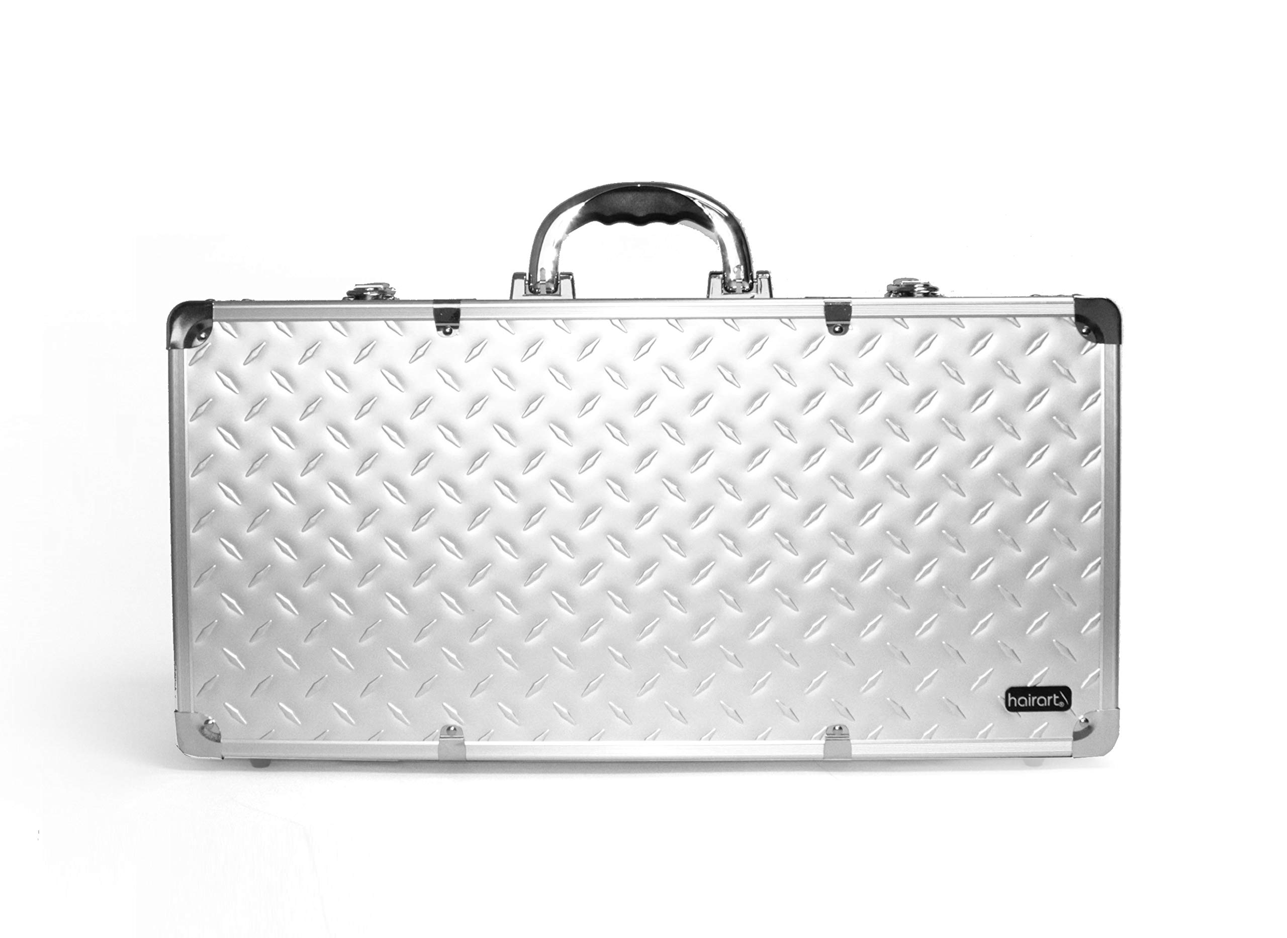 HairArt Barber Case, Barber Kit Tool Case, Tools Not Included (Silver)