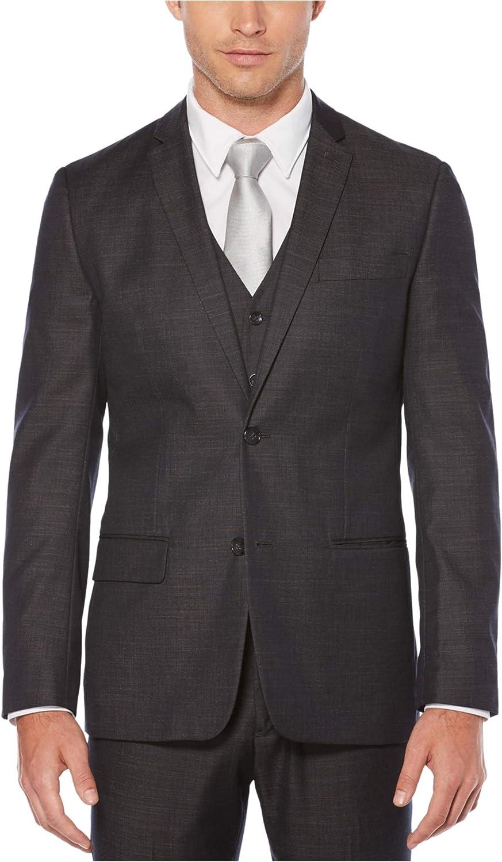 Perry Ellis Mens Linen Two-Button Notch Lapel Jacket