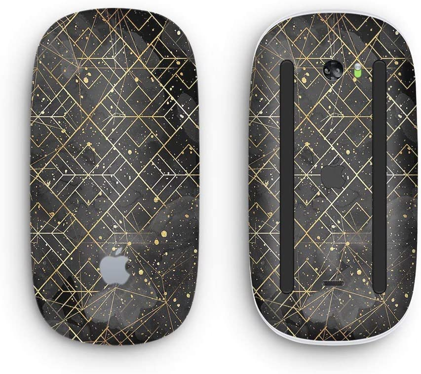 Karamfila Watercolor /& Gold V9 Design Skinz Premium Vinyl Decal for The Apple Magic Mouse 2 with Multi-Touch Surface Wireless, Rechargable