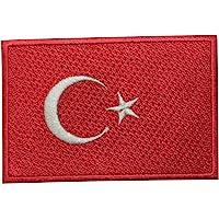Parche bordado con la bandera nacional de Turquía