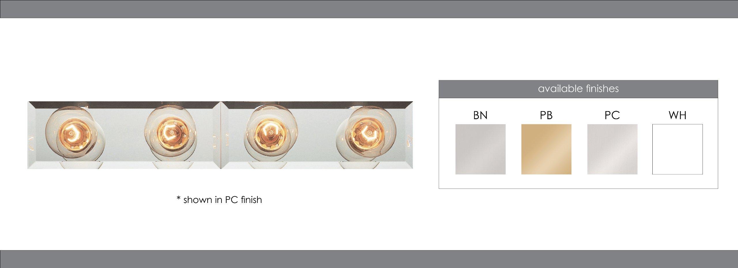 Trans Globe Lighting 3204 WH Indoor  Lyric 24'' Vanity Bar, White
