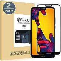 EasyULT [2-Pack] Huawei P20 Lite Pellicola Protettiva, 2 Pack Copertura Completa Pellicola Protettiva in Vetro Temperato per Huawei P20 Lite/P11 Lite-Nero