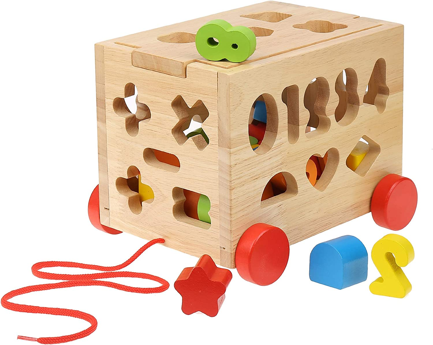 Boxiki Kids Wooden Activity Cube | Toddler Blocks | Educational Toy | Wooden Baby Toy for Ages 3+