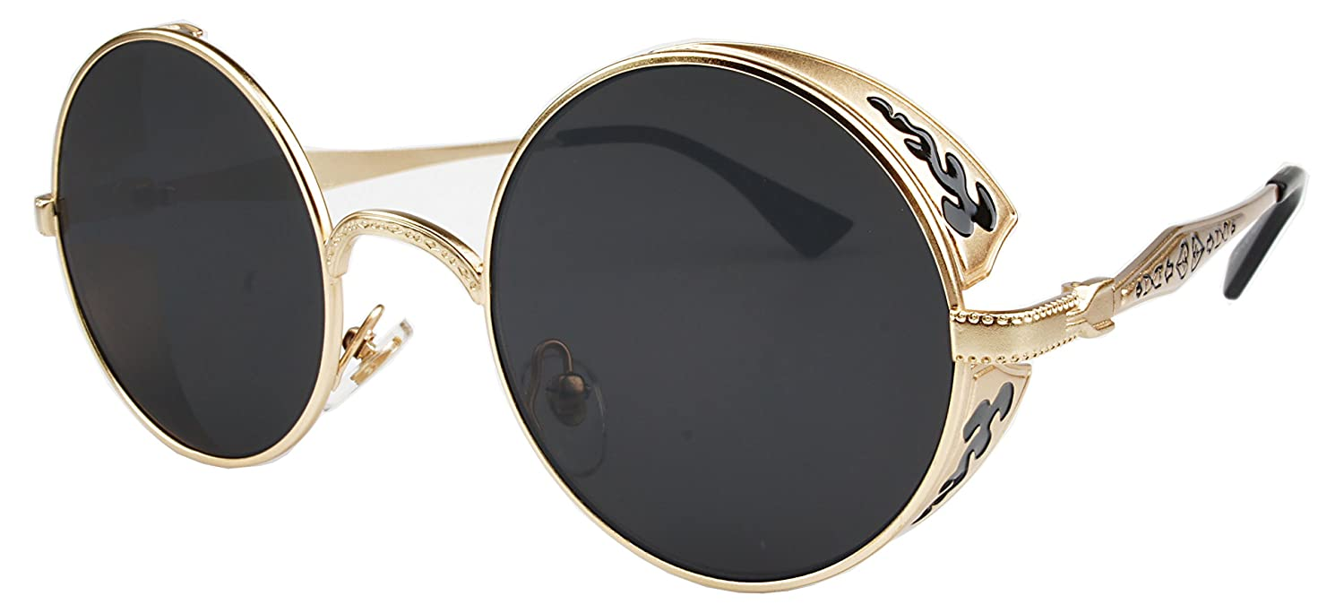 Circle Glasses Gold Frame : Dog and Beth Chapman Bounty Hunter Costumes