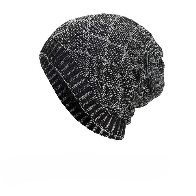 a8014299efe Women Men Adult Casual Warm Acrylic Baggy Weave Crochet Winter Wool Knit  Ski Beanie Skull Caps at Amazon Men s Clothing store