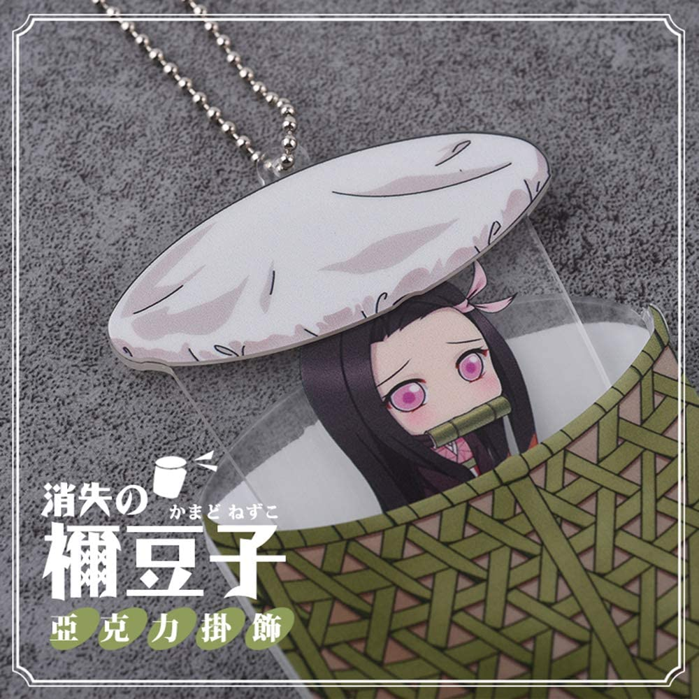 futurecos Demon Slayer Cute Keychain Pendants Zenitsu Inosuke Nezuko Tanjirou