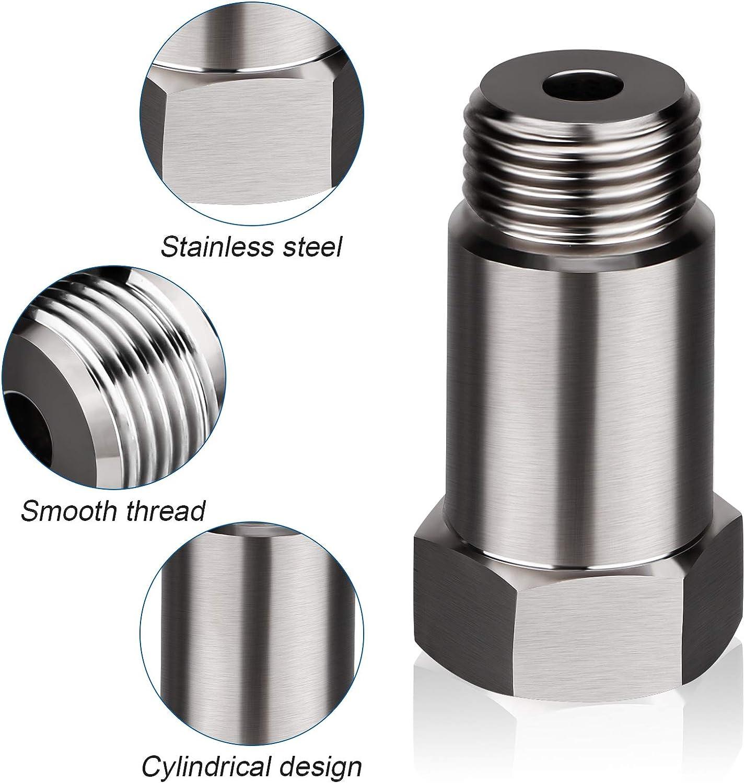 Stainless Steal Design M18 x 1.5 Oxygen Sensor Spacer Universal O2 Sensor Fitting M18 x1.5mm Thread Straight Threaded