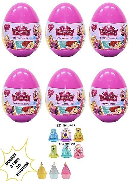 Amazon.com: 4 New Disney Princess plástico sorpresa Huevos ...