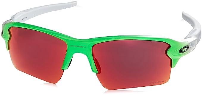 Oakley Men s Flak 2.0 XL Non-Polarized Iridium Rectangular Sunglasses GREEN  FADE 59 mm 09f06bdaa3