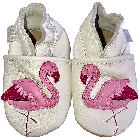 Suaves Zapatos De Cuero Del Bebé Flamenco 0-6 meses: Amazon ...