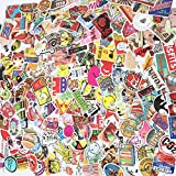 Sarahs 50 100 200 Pcs Waterproof Vinyl Stickers for Laptop, Car, Bumpers, Motorcycle, Skateboard, Luggage,bomb Vintage Hype Decals Dope Graffiti Decals Sticker