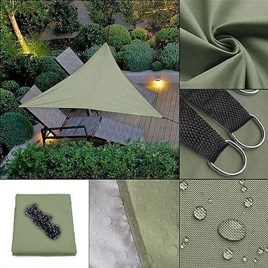 Eroihe Toldo Vela Triangular Protección UV Impermeable Toldo Vela de Sombra para Patio/Exteriores/Jardín 3 x 3 x 3m: Amazon.es: Jardín