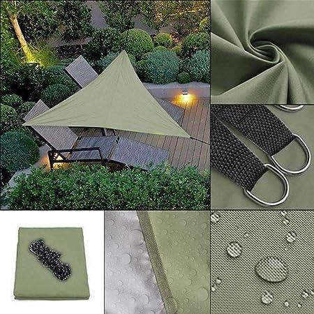Fantiff Toldo Triangular de 9,8 pies, con Bloqueo UV para Patio, jardín y Actividades al Aire Libre, Tela, Verde Oscuro, Large: Amazon.es: Hogar