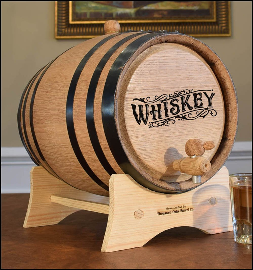 Engraved Whiskey Barrel (B511) (3 Liter) by ReCoop ® Barrels (Image #2)