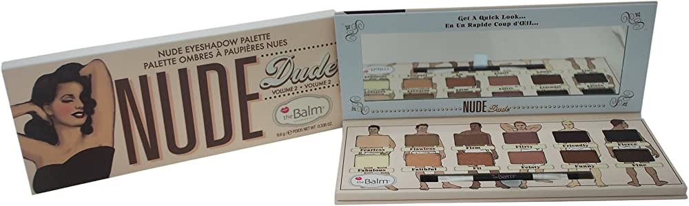 the Balm Nude Dude Volume 2 Eyeshadow Palette by the Balm for Women - 0.336 oz Eyeshadow, 9.6 g