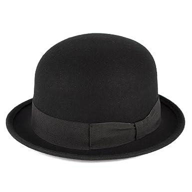 d2d Mens Ladies Vintage Charlie Chaplin 100% Wool Felt Derby Bowler ... ec174095c92