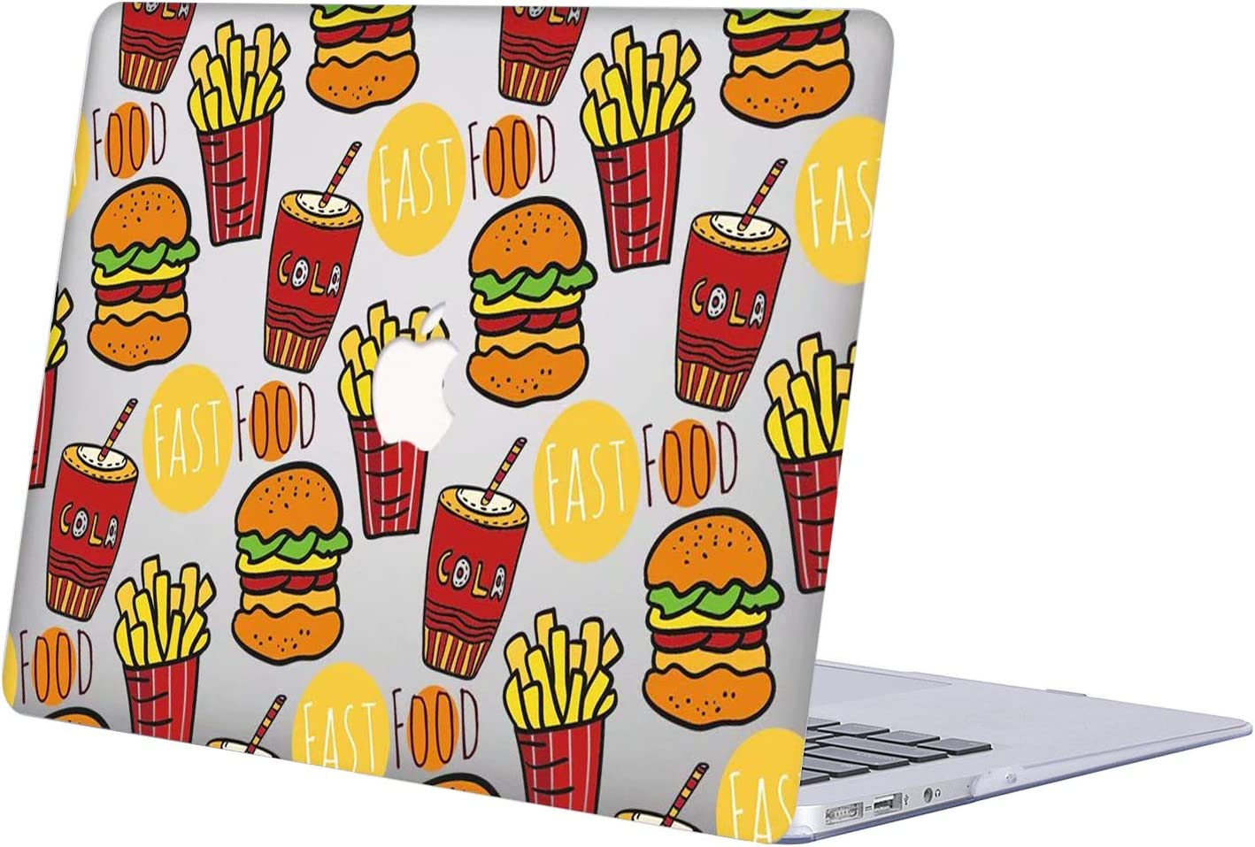 Case Compatible with MacBook Pro 15 inch 2019 2018 2017 2016 Release A1990 A1707, AJYX Hard Plastic Case Shell Cover for Newest MacBook Pro 15 case with Touch Bar Soft Touch,R809 Fast Food