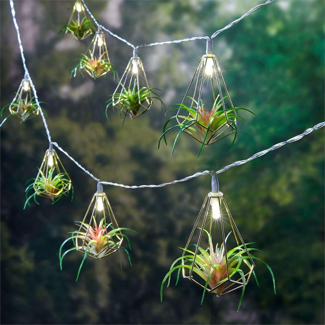 BrylaneHome Succulent String Lights (Multi,0)