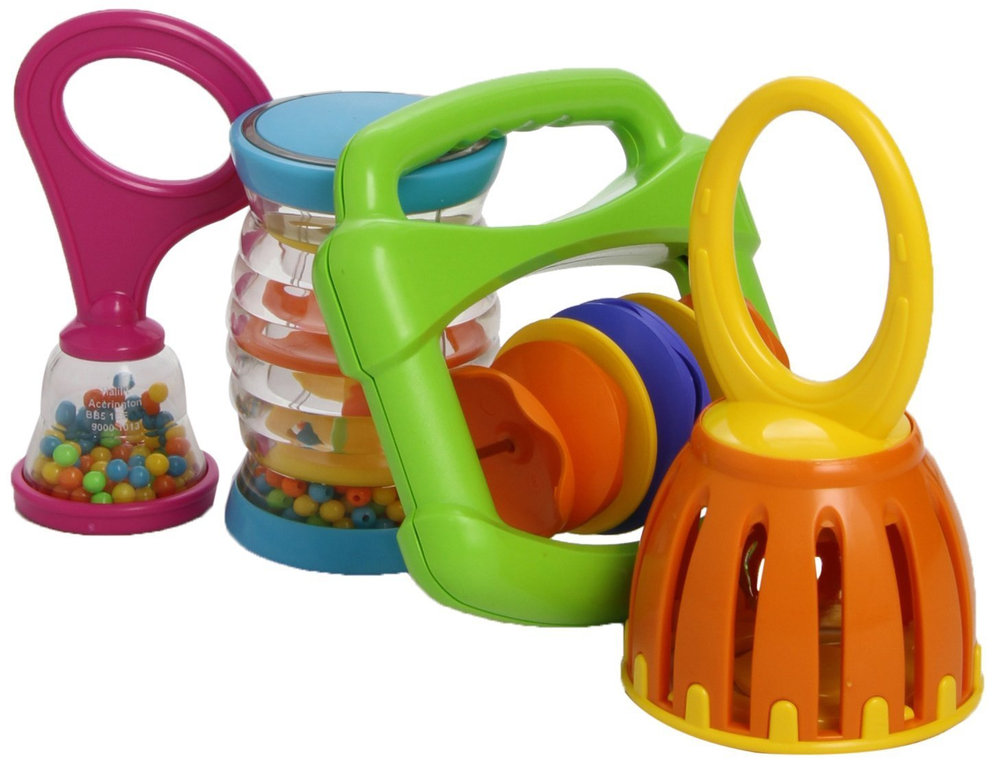 Kids Muscial Toys MS9000 Baby Band, Colors of Product May Vary (Full pack with Cage Bell)