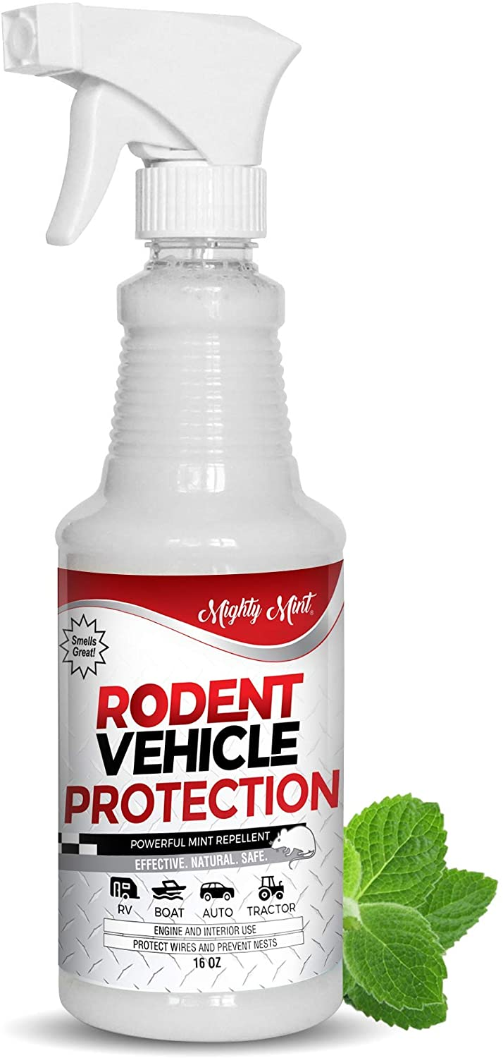 Mighty Mint Rodent Repellent Spray for Vehicle Engines and Interiors - Cars, Trucks, RVs, & Boats