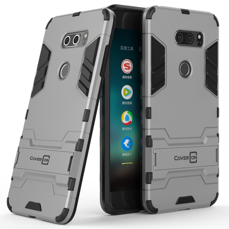 newest 4748c fcda0 LG V30 Case, LG V30 ThinQ Case, LG V35 Case, LG V35 ThinQ Case, LG V30 Plus  Case, LG V30 Plus ThinQ Case, CoverON Shadow Armor Series Modern Slim Hard  ...