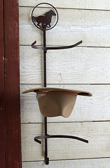 Amazon.com  Horse Over-The-Door Cowboy Hat Rack - Rustic Decor  Home ... 83c3ff854f26