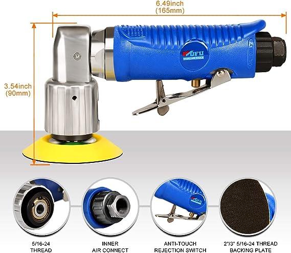 SPTA Mini Levigatrice Ad Aria Compressa Disco 80mm 3 Rotorbitale Orbitale Pneumatica 45 dischi lucidanti da 80 mm di alta qualit/à per levigatrice per auto