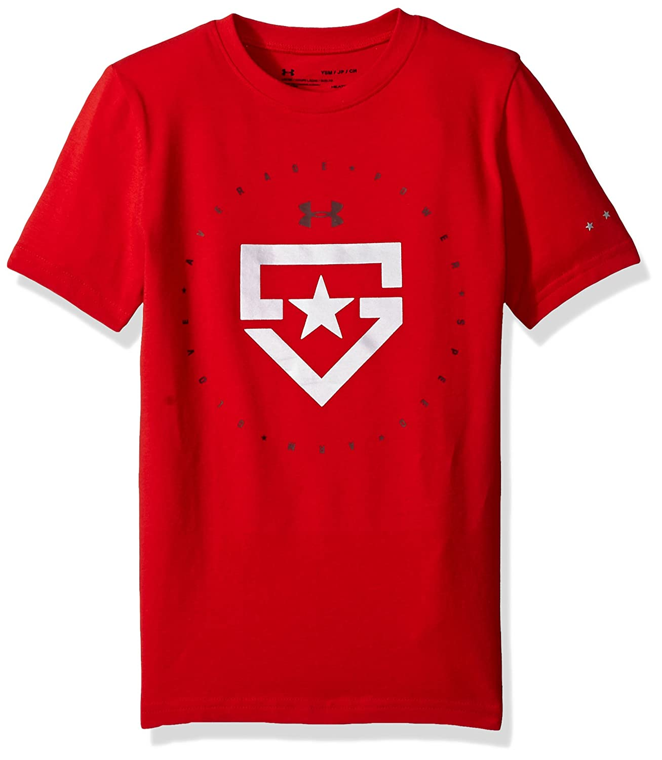 Under Armour Boys 'ヒーターTシャツ B071HW9S3T Youth Small|Red (600)/Metallic Silver Red (600)/Metallic Silver Youth Small