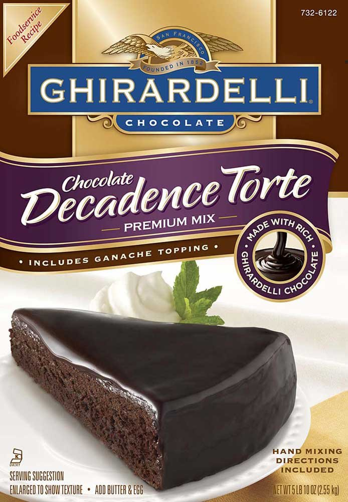 Continental Mills Ghirardelli Chocolate Decadence Torte Mix, 90 Ounce -- 4 per case.