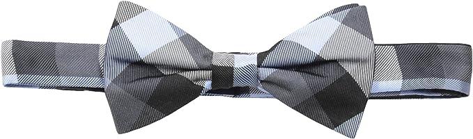 Uyoung Black Purple Checkers Mens Pre-tied Bow Tie