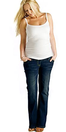 Indigo Maternity Jeans: Over the Bump, (Available in 3 leg lengths ...
