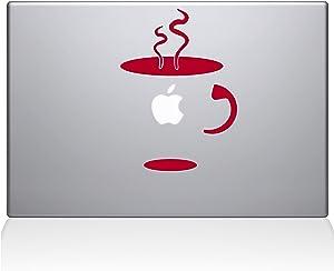 "The Decal Guru 0059-MAC-11A-DR Cup Of Coffee Vinyl Sticker, 11"" Macbook Air, Red"