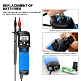 Digital Multimeter,Pen Type Voltage Tester with LCD Display, Highly Precise 6000 counts for Measuring AC/DC Voltmeter/Resistance/Diode/Capacitance,Data Hold and Flashlight