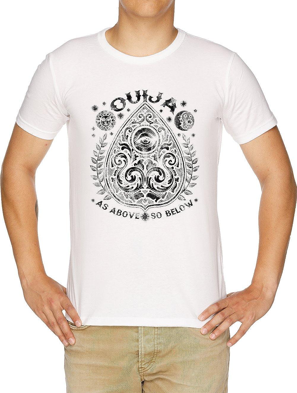 Vendax Victoriano Tabla DE ESPIRITISMO tablita Camiseta Hombre Blanco: Amazon.es: Ropa y accesorios