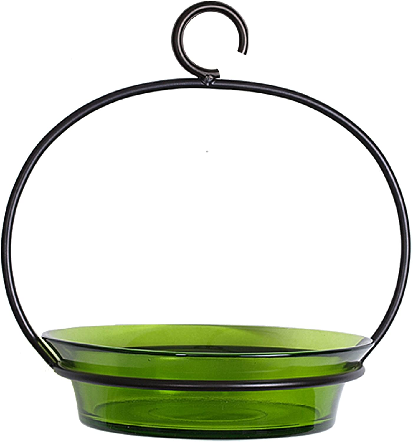 Couronne Company Mosaic Birds M337-200-01 Cuban Hanging Bird Bath or Feeder Lime, 10