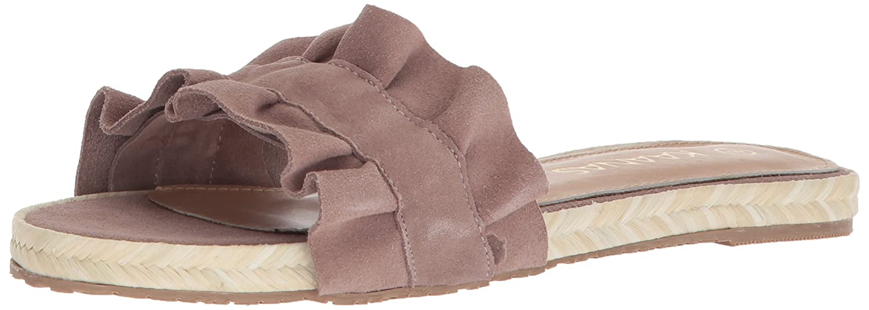 KAANAS Women's Pasadena Ruffle Flat Slide Sandal B077JFKZY1 10 B(M) US|Mauve