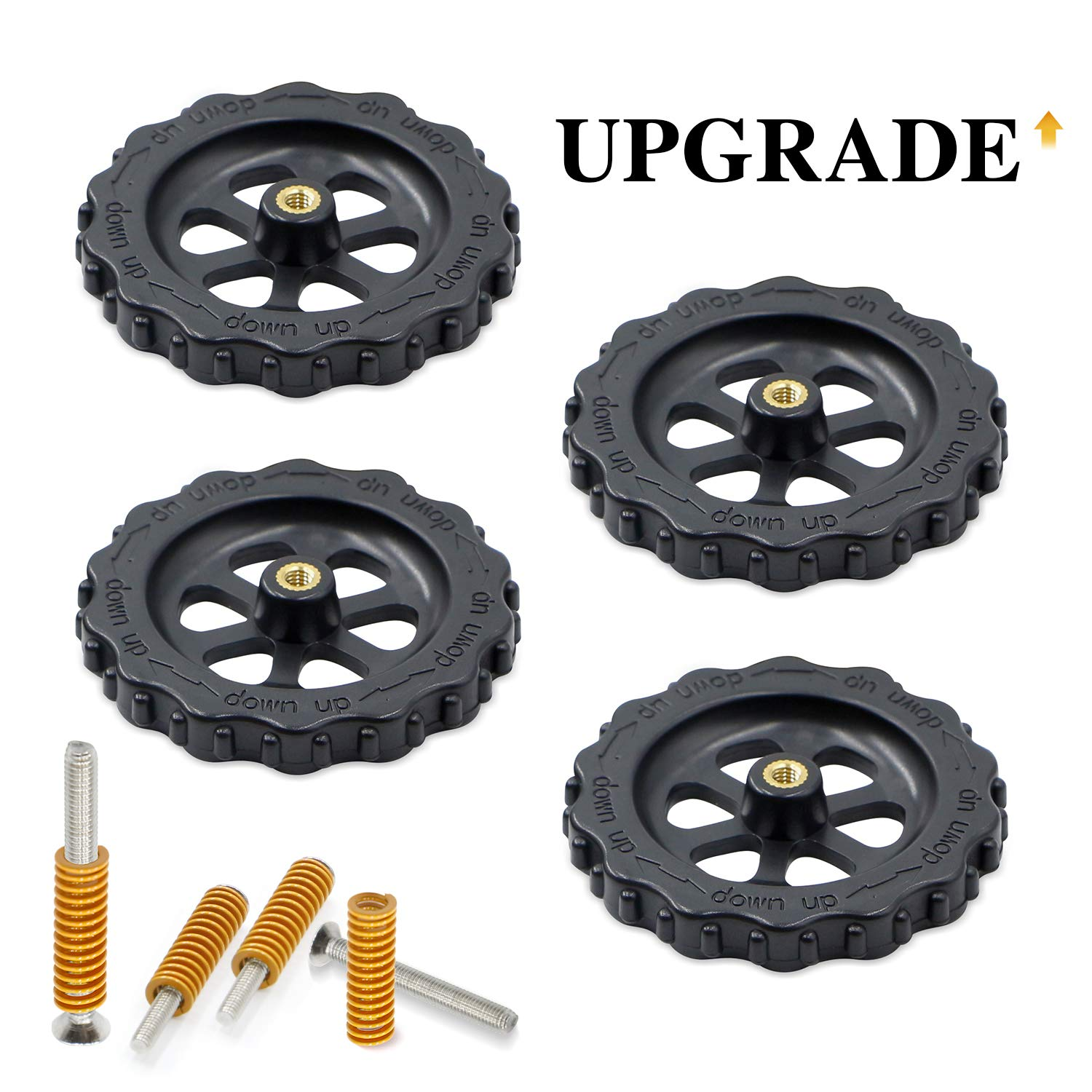 4pcs Hot Bed Spring For Ender 3//5 CR-10 Creality 4pcs Upgraded Leveling Nut