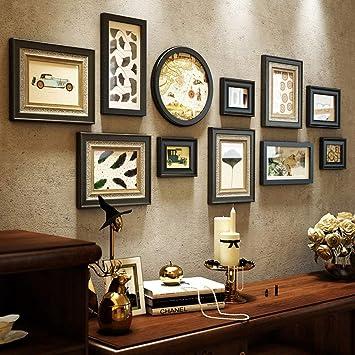 Amazon.com: GouuoHi - Marco de fotos de pared de madera ...