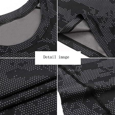 Camisa de compresión de manga larga con ajuste de la piel ...