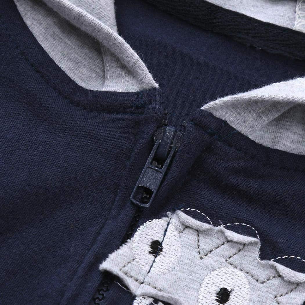Toddler Baby Boys Girls Cartoon Dinosaur Hooded Zipper Pocket Tops Clothes Coat Palarn Baby Clothes