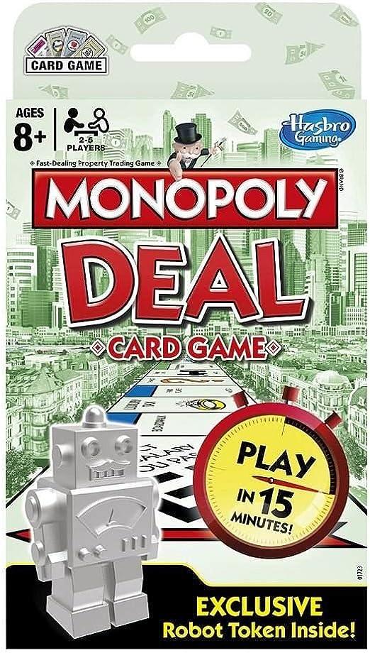 Monopoly Deal Card Game with Exclusive Robot Token Included: Amazon.es: Juguetes y juegos